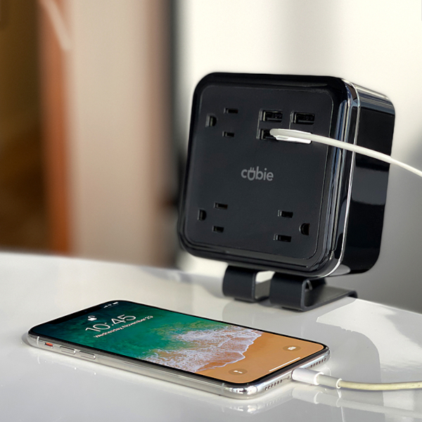 The original Brandstand Cubie is the device that started it all, a retro-fit option for hotels and public spaces that features 3x power outlets and 4x USB charging ports.